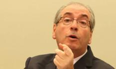 O deputado afastado Eduardo Cunha: gastos acima de R$ 500 mil por mês Foto: Andre Coelho / Agência O Globo / 19-5-2016