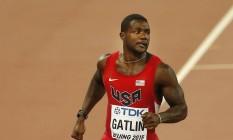 Gatlin diz não se sentir ofuscado por Bolt Foto: Mark Schiefelbein / AP