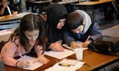 Juntos. Crianças na competição: instrumento para integrar imigrantes Foto: CAPUCINE GRANIER-DEFERRE / Capucine Granier-Deferre/The New York Times