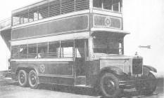 """Dois andares. Com chassi inglês e carroceria construída no Rio, os ônibus Imperial circularam de 1928 a 1941. Logo foram apelidados de """"Chopp duplo"""" Foto: reprodução / reprodução / lexicar brasil"""