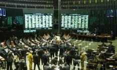 Deputados e senadores apreciaram 24 votos que trancavam a pauta Foto: André Coelho / Agência O Globo