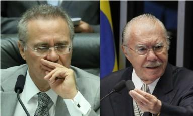 Renan, Sarney, Jucá Foto: -