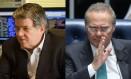 O ex-presidente da Transpetro, Sérgio Machado, e o presidente do Senado, Renan Calheiros Foto: Montamgem/O GLOBO