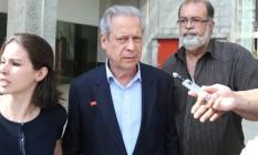 O ex-ministro da Casa Civil José Dirceu 04/11/2014 Foto: André Coelho / O Globo