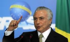 O presidente interino, Michel Temer 24/05/2016 Foto: Givaldo Barbosa / O Globo
