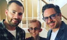 Chris Evans, Ryan Wilcox e Robert Downey Jr. Foto: Reprodução / Instagram