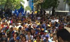 Manifestação em Caracas reuniu descontentes com manobras no Conselho Nacional Eleitoral Foto: Reprodução