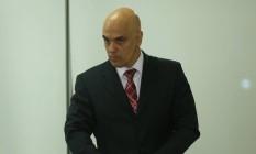 O ministro da Justiça, Alexandre de Moraes: em defesa da delação premiada Foto: Andre Coelho / Agência O Globo / 16-5-2016