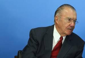 O ex-presidente José Sarney Foto: Adriano Machado / Reuters / 24-5-2016