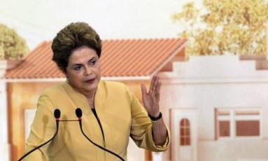 A presidente afastada Dilma Rousseff Foto: Arquivo O Globo