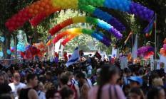 Festas nas ruas de Tel-Aviv durante a Parada Gay de 2015 Foto: Divulgação