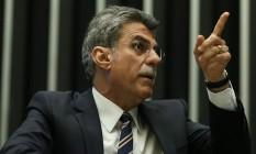 O senador e ex-ministro do Planejamento Romero Jucá Foto: André Coelho / Agência O Globo 24/05/2016