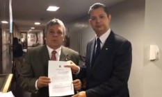 Alberto Fraga (DEM-DF) e Sóstenes Cavalcante (DEM-RJ) Foto: Reprodução