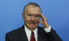O ex-presidente José Sarney Foto: Givaldo Barbosa / Agência O Globo / 24-5-2016