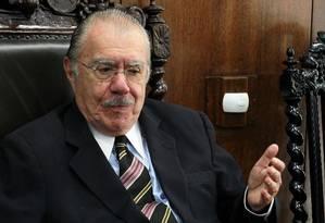 O ex-presidente José Sarney Foto: Ailton de Freitas / Agência O Globo / 18-10-2012