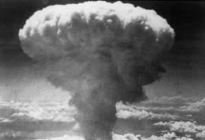 Explosão da segunda bomba atômica em Nagasaki, no dia 9 de agosto de 1945. Foto: AFP