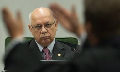 Homologação. O ministro Teori Zavascki oficializou ontem a delação do ex-presidente da Transpetro Sérgio Machado Foto: André Coelho/3-3-2015