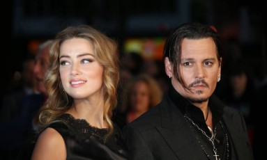 Amber Heard e Johnny Depp Foto: Joel Ryan / AP
