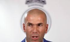 O técnico Zinedine Zidane não tem emprego garantido para a próxima temporada europeia, diz TV italiana, apesar de estar na final da Liga dos Campeões, contra o Atlético de Madrid Foto: Juan Medina / REUTERS