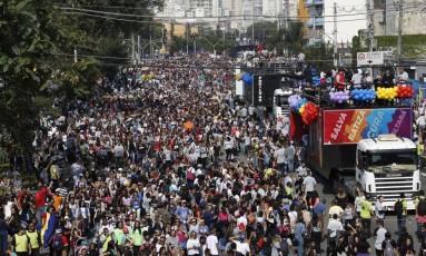 Evento evangélico Marcha pra Jesus reúne seguidores em São Paulo Foto: Edilson Dantas / Agência O Globo