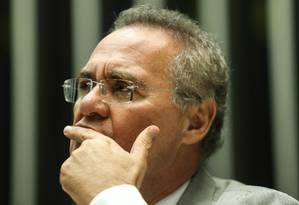 O presidente do Senado Renan Calheiros Foto: André Coelho / Agência O Globo