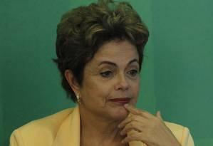 A presidente Dilma Rousseff manifestou repúdio ao estupro coletivo Foto: Givaldo Barbosa / Agência O Globo