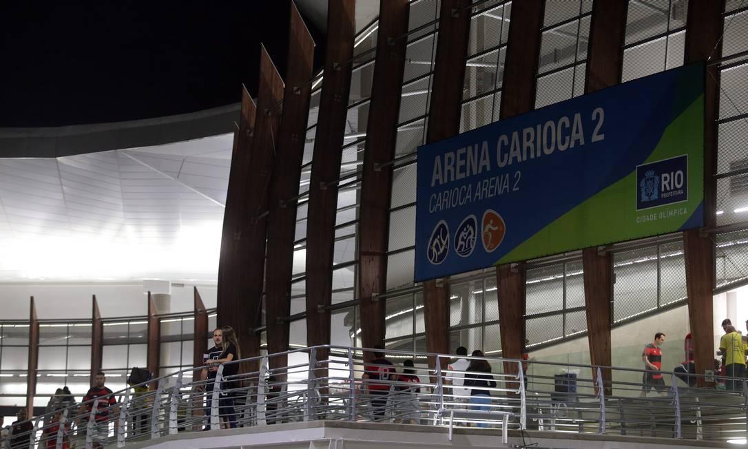 A Arena Carioca 2 foi palco de Flamengo x Bauru, nesta quinta, na segunda partida das finais do NBB Rafael Moraes / Agência O Globo