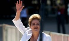 A presidente afastada Dilma Rousseff ao deixar o Palácio do Planalto, em 12 de maio Foto: Ailton de Freitas / Agência O Globo