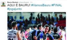 Bauru provoca o Flamengo após vitória na final do NBB Foto: Divulgação