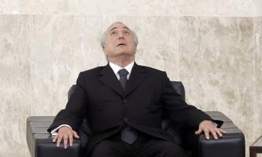 O presidente interino Michel Temer Foto: Givaldo Barbosa / Agência O Globo