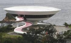 Palco. Fechado para reformas, o MAC, em Niterói, serve hoje de passarela para a Louis Vuitton Foto: Pedro Teixeira / Agência O Globo