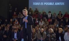Mauricio Macri, presidente da Argentina, anuncia novo pacote em Buenos Aires Foto: Diego Levy / Bloomberg