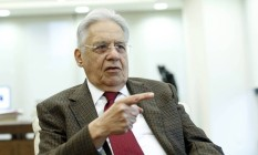 O ex-presidente Fernando Henrique Cardoso Foto: Edilson Dantas / Agência O Globo