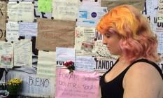 Mulheres em São Paulo prestam solidariedade à vítima de estupro no Rio de Janeiro Foto: Edilson Dantas/Agência O Globo