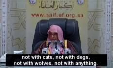Clérigo saudita Saleh Bin Fawzan Al-Fawzan proibindo fotos, exceto em casos de necessidade Foto: Reprodução