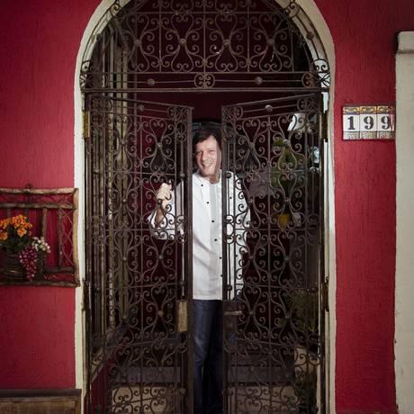 O Ristorante Torninha, do chef Federico Tagliabue, oferece prato que mistura camarão e porco Foto: Leo Martins