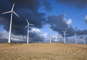 Captação de energia eólica Foto: Adriano Machado / Agência O Globo