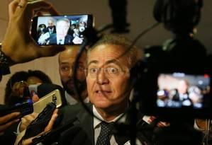 O presidente do Senado, Renan Calheiros Foto: Ailton Freitas / Agência O Globo