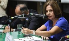 Ex-chefe da Polícia Civil, Martha Rocha repudiou declarações de delegado responsável pelas investigações de caso de estupro Foto: Agência O Globo / Thiago Lontra 22-03-2016