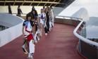 Desfile da grife francesa foi acompanhado de perto por 400 convidados Foto: Leo Martins / Agência O Globo