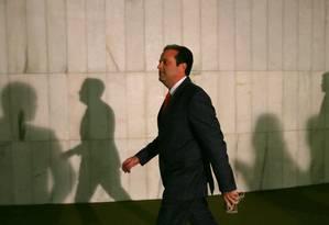 O novo líder do governo na Câmara, deputado André Moura (PSC -SE) Foto: Michel Filho / Agência O Globo
