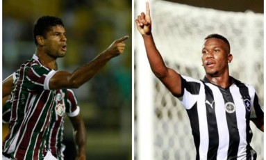 Gum e Ribamar: momentos semelhantes do zagueiro e do atacante antes do clássico entre Fluminense e Botafogo pela Série A do Brasileiro Foto: Agência O Globo