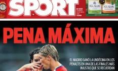 Manchete do 'Sport' fala em pena máxima Foto: Reprodução