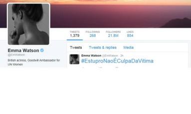 Reprodução do tweet de Emma Watson Foto: Reprodução