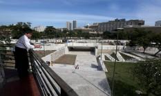 Vista do trecho entregue a partir do restaurante Albamar, na Praça Marechal Âncora Foto: Custódio Coimbra / Agência O Globo