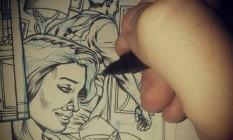 Um dos desenhos de Allan Goldman Foto: Instagram / Reprodução