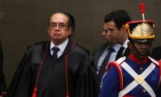 O ministro Gilmar Mendes em sua posse como presidente do TSE (12/05/2016) Foto: Jorge William / Agência O Globo