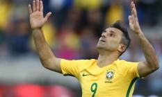 Jonas comemora o gol que marcou antes de 2 minutos de jogo pela seleção contra o Panamá: único amistoso de preparação para a Copa América Foto: Lucas Figueiredo / MowaPress