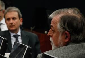 Alberto Yousseff e o ex-diretor da Petrobras Paulo Roberto Costa Foto: André Coelho / Agência O Globo