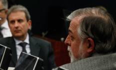 Alberto Yousseff e o ex-diretor da Petrobrás Paulo Roberto Costa Foto: André Coelho / Agência O Globo